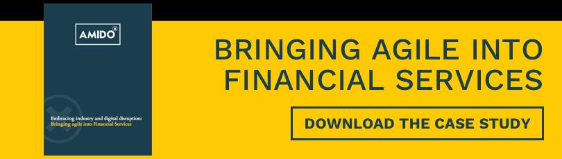 Agile into financial services