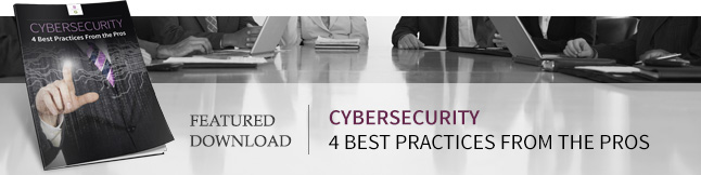 Download the Cybersecurity: 4 Best Practices From the Pros Free eBook