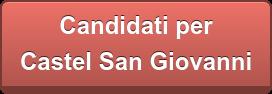 Candidati per  Castel San Giovanni