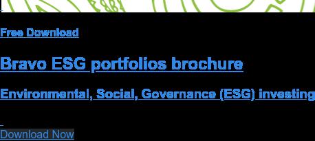 Free Download Bravo ESG portfolios brochure Environmental, Social, Governance (ESG) investing  Download Now