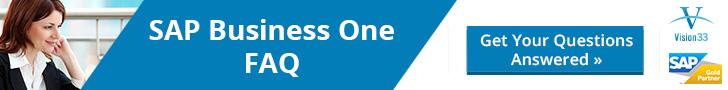 SAP Business One FAQ