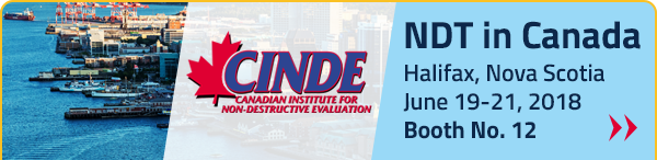 NDT in Canada June 19-21, 2018 | Booth No. 12
