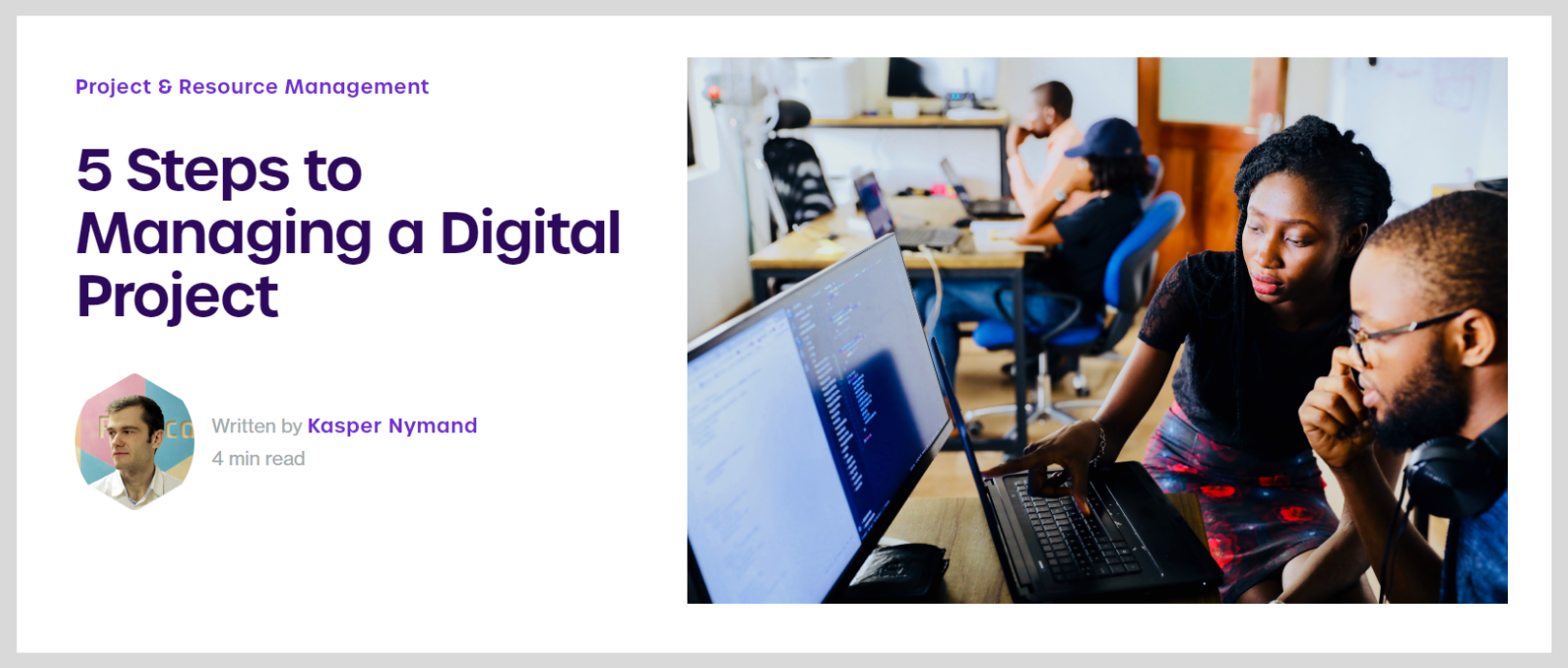 how to manage a digital project