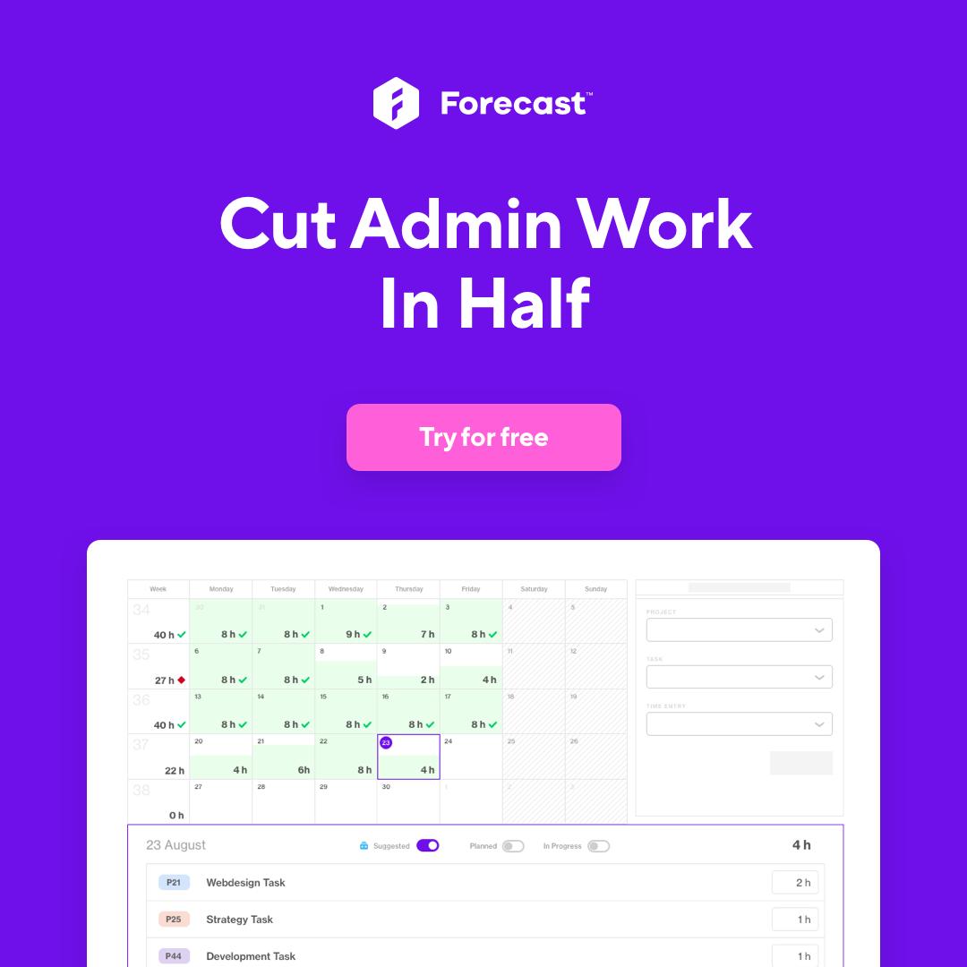 cut admin work in half
