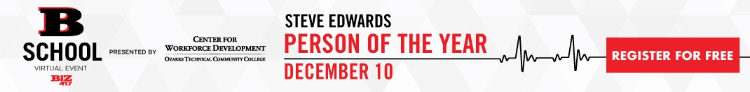 Biz 417's B-School with Person of the Year Steve Edwards on December 10