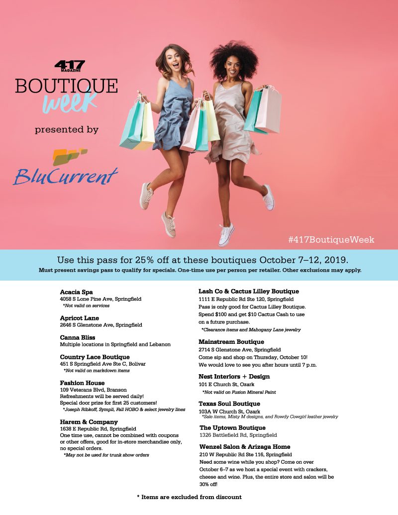Boutique Week Savings Pass: Click to Download