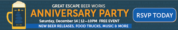 Great Escape Beer Works - See what's fresh on tap 7 days a week!