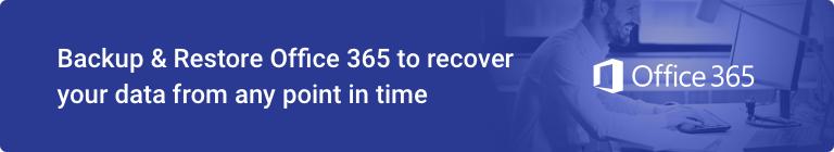 Backup Restore Office 365