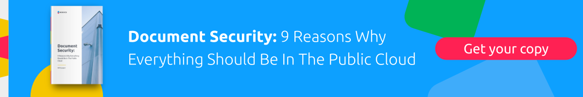 Document Security PDF: Nine Reasons Why Everything Should be in the Public Cloud