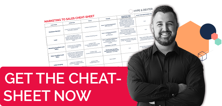 Get Ryan's Marketing to Sales Cheat-sheet now