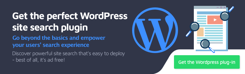 Get the perfect WordPress site search plugin. Go beyond the basics and empower your users' search experience.