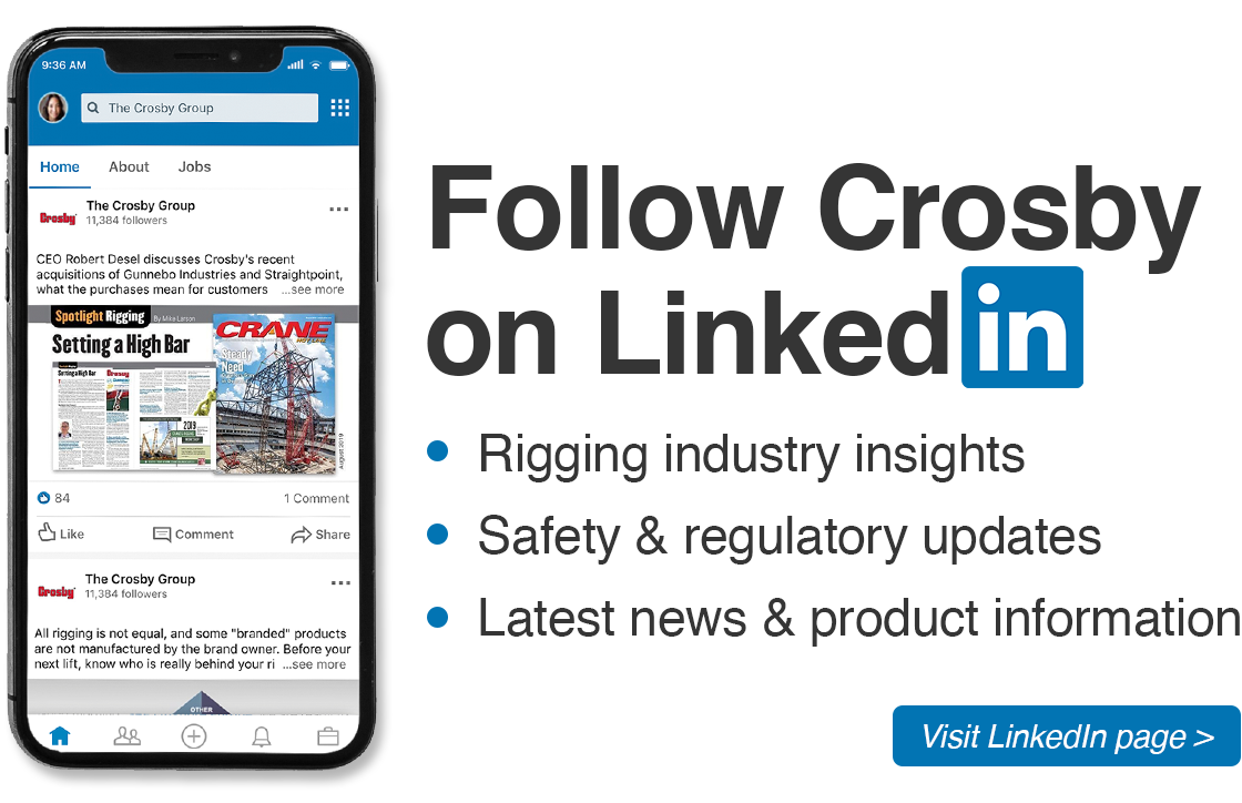 Follow Crosby On LinkedIn