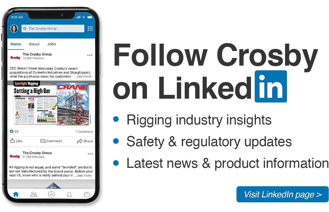 Follow Crosby On LinkedIn