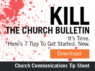 Kill the Church Bulletin