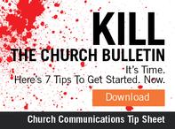 Kill the Church Bulletin