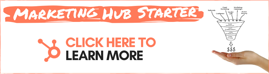 Marketing Hub Starter - Click here to learn more