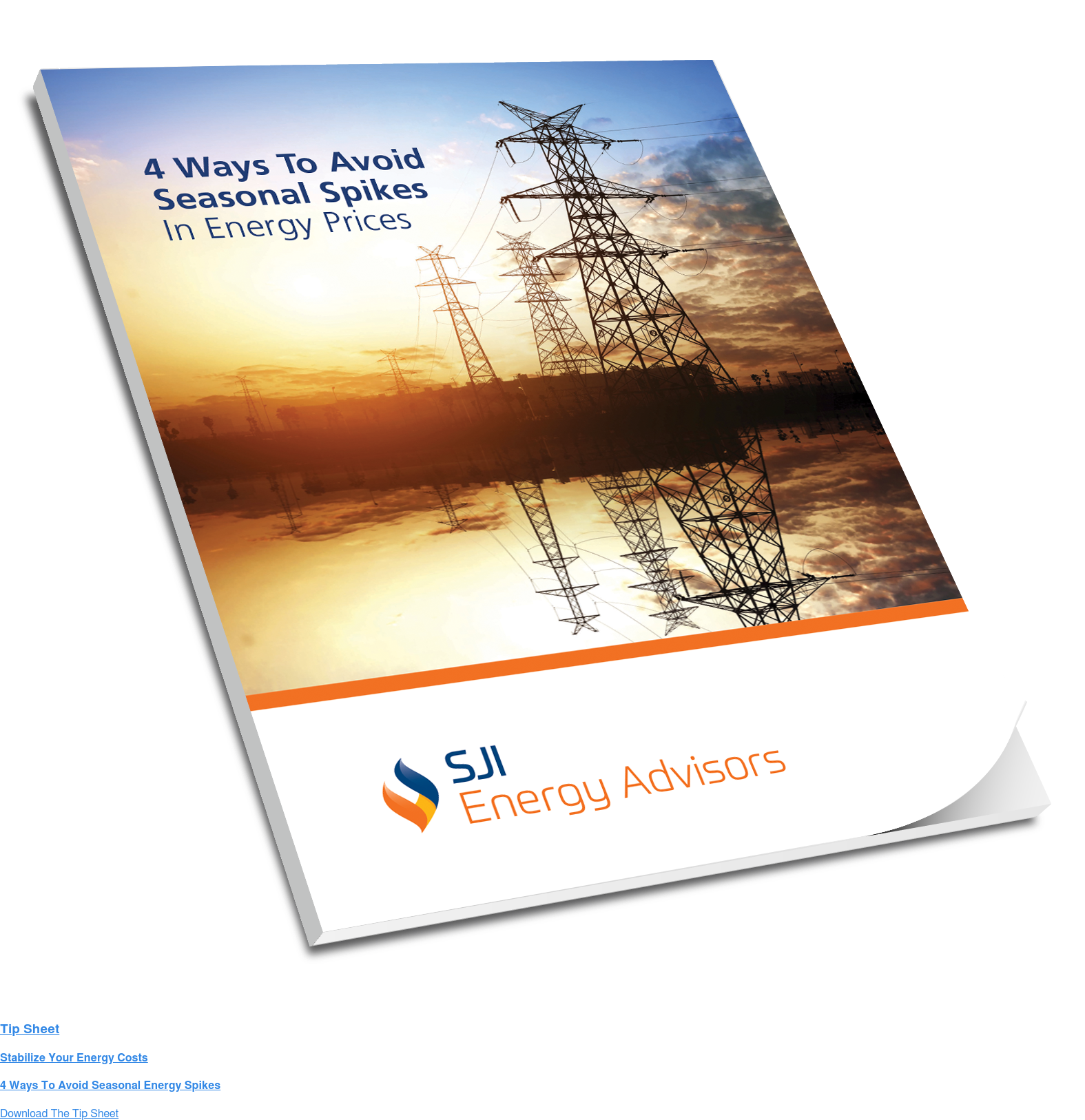 Tip Sheet   Stabilize Your Energy Costs   4 Ways To Avoid Seasonal Energy Spikes Download The Tip Sheet