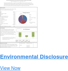 Environmental Disclosure Download Now