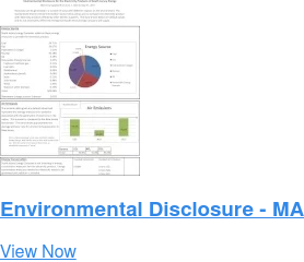 Environmental Disclosure - MA View Now