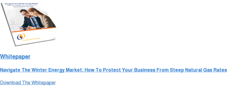Whitepaper  Navigate The Winter Energy Market: How To Protect Your Business From Steep  Natural Gas Rates Download The Whitepaper