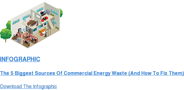 INFOGRAPHIC  The 5 Biggest Sources Of Commercial Energy Waste (And How To Fix Them) Download The Infographic