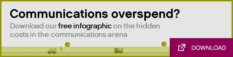 Free infographic on the hidden costs of communications