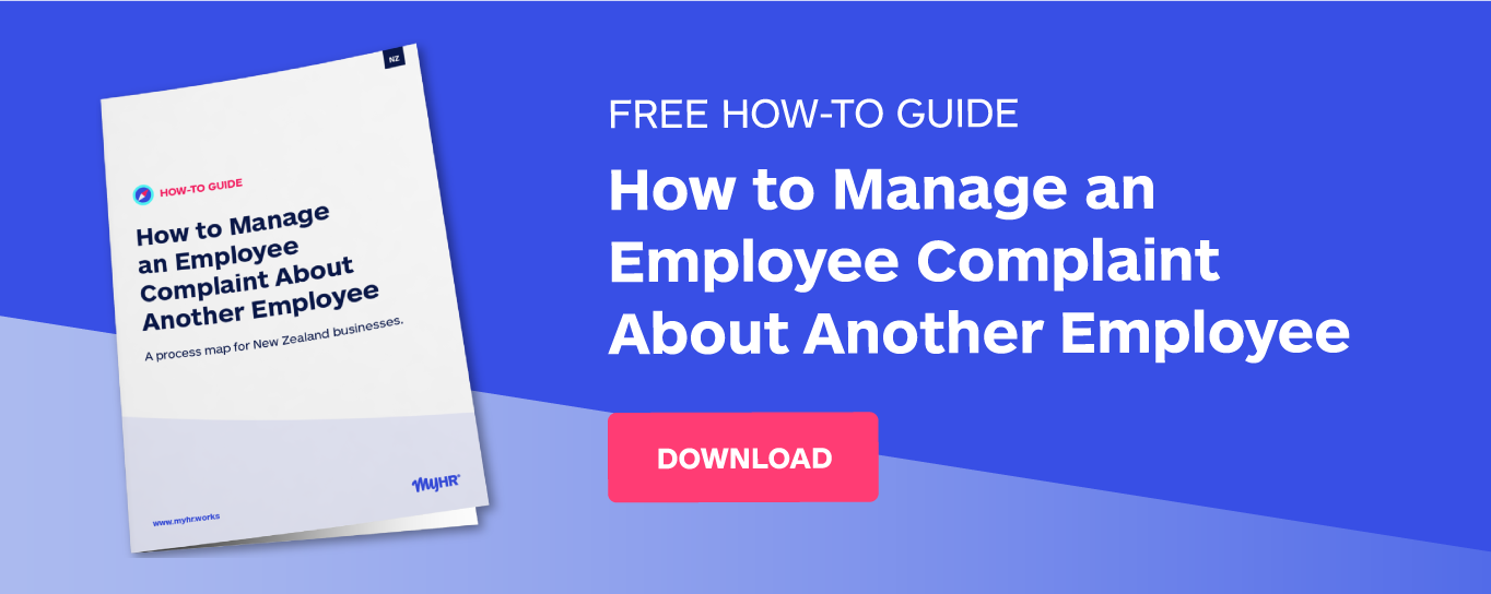 Free how-to guide: How to manage an employee complaint about another employee
