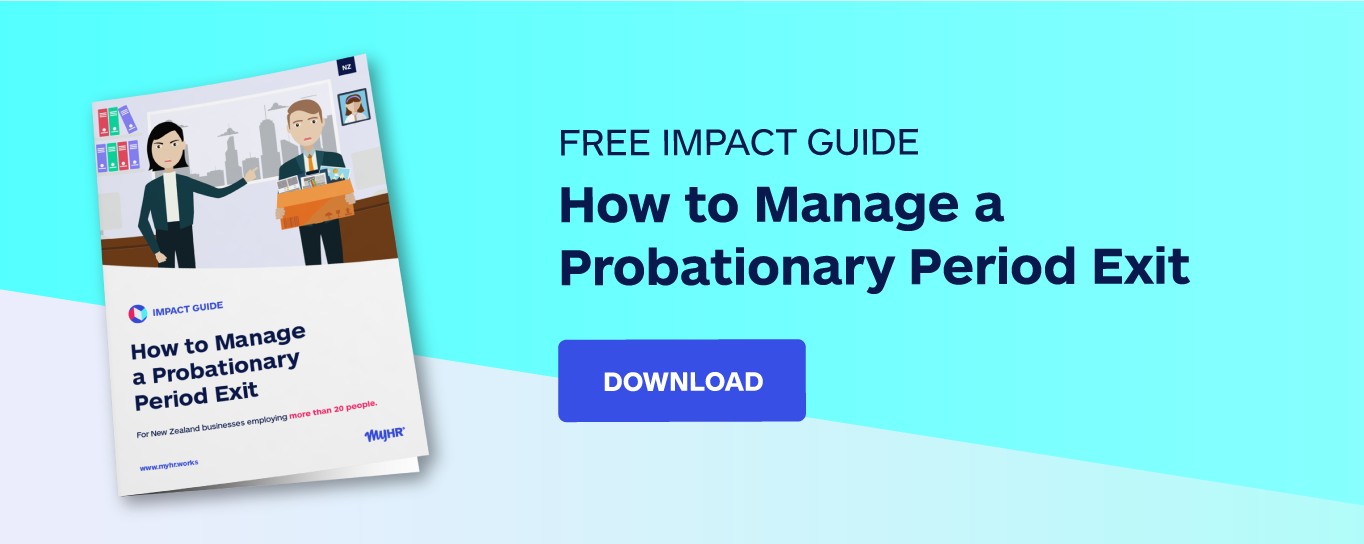 Free impact guide: how to manage a probationary period exit