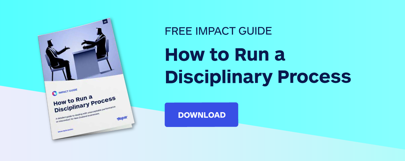 Free impact guide: How to run a disciplinary process
