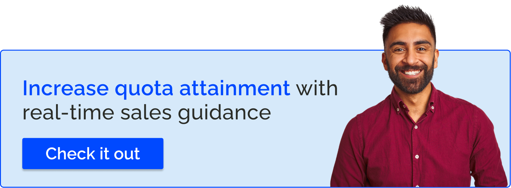 Increase quota attainment with real-time sales guidance