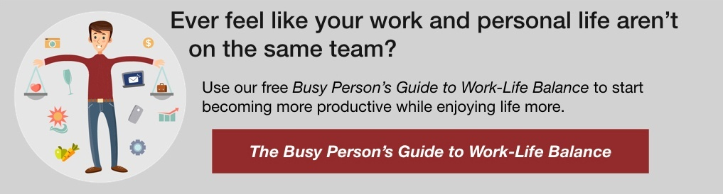 busy person's guide to work-life balance