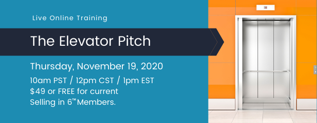 Learn to create an elevator pitch that is concise, compelling, and worth repeating.