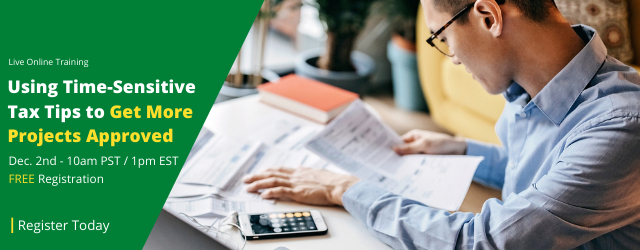 Learn 5ways to capture tax savings and incentives that you can share with your prospects.