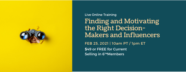Join us for this 60-minute training to learn strategies for identifying your best targets!