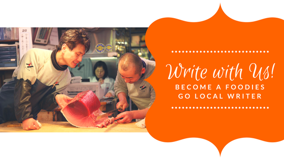 Write with us at Foodies Go Local!