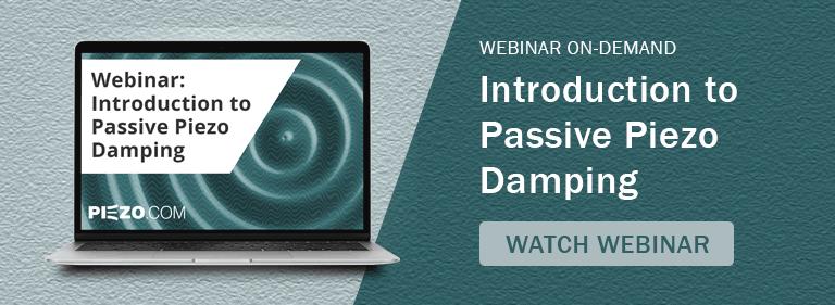 Introduction to Passive Piezo Damping Webinar