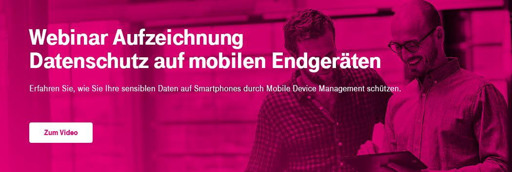 Webinar Aufzeichnung Mobiler Datenschutz