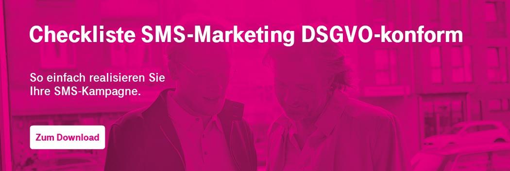 Checkliste SMS-Marketing DSGVO