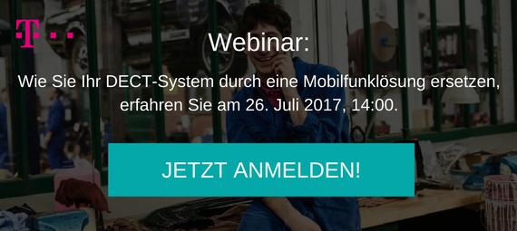 Webinar Anmeldung DECT-System