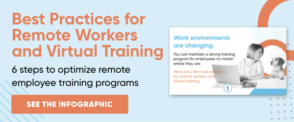 Best Practices for Remote Workers and Virtual Training Infographic