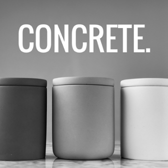 concrete candle containers