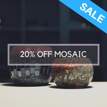 mosaic candle jars sale