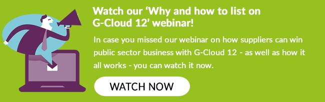 G-Cloud 12 webinar