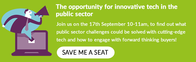Join us on the 17th September from 10-11am to find out how your tech can help the public sector.