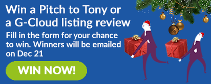Win a Pitch to Tony or a G-Cloud listing review