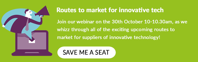 Register for our 'Routes to market for innovative technology' webinar