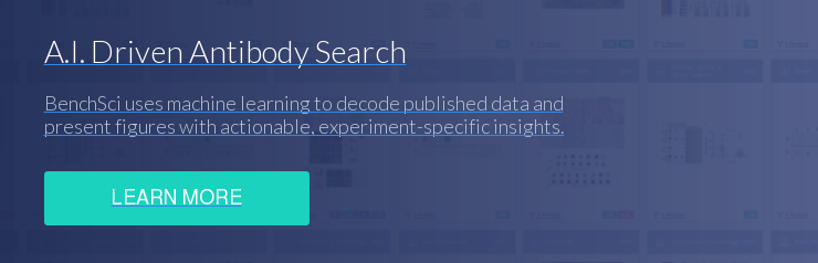 A.I. Driven Antibody Search BenchSci uses machine learning to decode published  data and  present figures with actionable, experiment-specific insights. Learn More