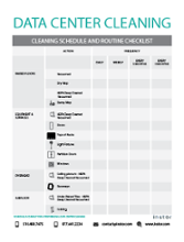 Free Download- Data Center Cleaning Checklist