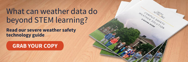 Click here to read how weather data can not only help you teach your students, but also protect them