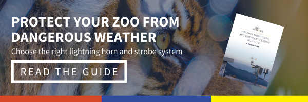 Click here to learn hwo to protect your zoo from dangerous weather by choosing the right lightning horn and strobe system. Read our Buying Guide